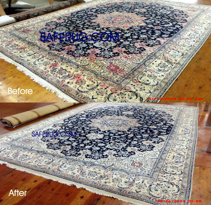 Stain removal art work dye area rug restoration